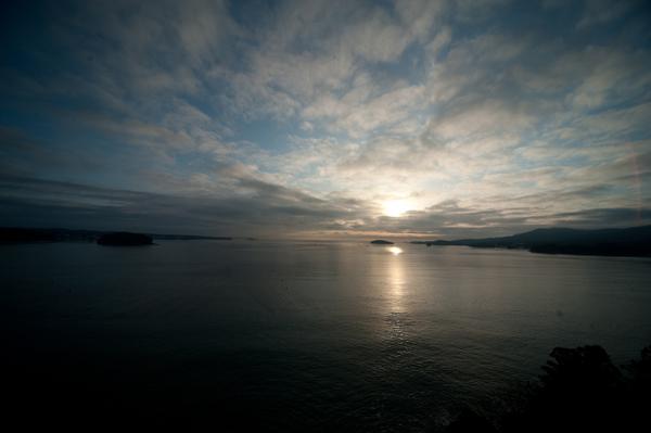 北山崎から眺める朝日
