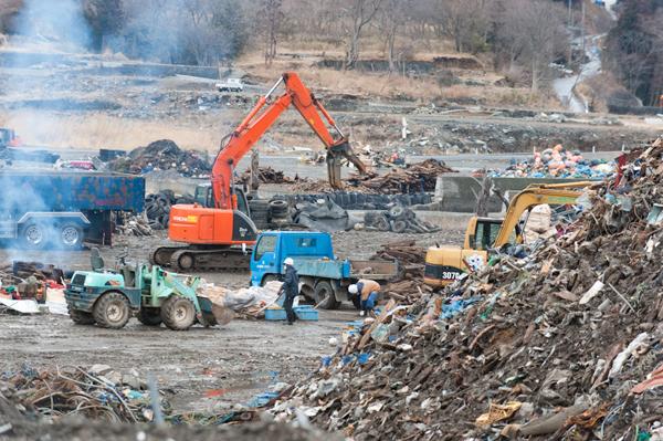瓦礫の処理
