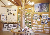 現在のビジターセンター。プログラムの案内や、 時期ごとの動植物の紹介コーナー、魚の漢字や 方言クイズなど、来た人を楽しませる工夫が。