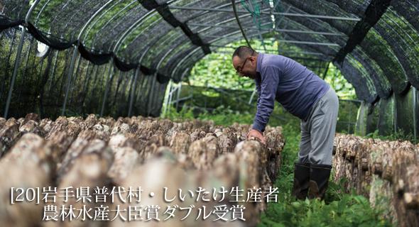 東北のいまvol.20 岩手県普代村・しいたけ生産者 農林水産大臣賞ダブル受賞