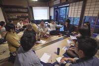 「京都移住計画」と「ローカルキャリアカフェ」という団体で共催した「どこで、何をして生きてゆく?」というテーマのイベントの様子。