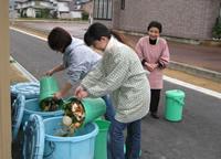 長井市民にとっては当たり前の景色となった生ごみ回収所。長井市で育った若者は、他市にこの仕組みがないと知って驚く人もいるとか。