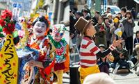 「マルシェを盛り上げよう」と地域の有志が一から練習し、衣装を作って始めた「ちんどんや」は、今や町の名物に。伝統舞踊や大道芸人も会場を沸かせる。