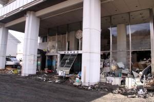 震災直後の宮古市役所