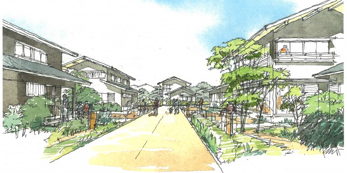 [宮城県 東松島市あおい地区] 集団移転に夢を。 日本一住みやすい町を目指す