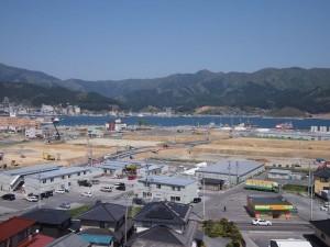 整備大賞地区の全貌は、市内の高台にある賀茂神社から臨むことができる