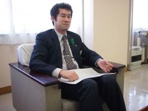 国土交通省出身の角田副市長。2012年4月より大船渡市副市長として市政を牽引している