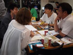 ディスカッションには須田女川町長(右端)自らも参加した