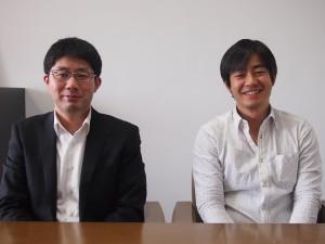 東京大学高齢社会総合研究機構の後藤純特任助教(左)と伊藤夏樹さん(右)