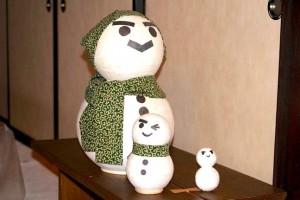 かわいらしい雪だるまのマトリョーシカ
