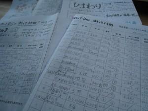 会報誌「ひまわり」には毎週、組合員から回収した農作物の測定結果を載せている