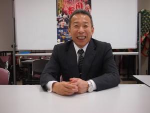 石巻観光協会会長の後藤さん。石巻グランドホテルの社長としての経営者の顔も持つ