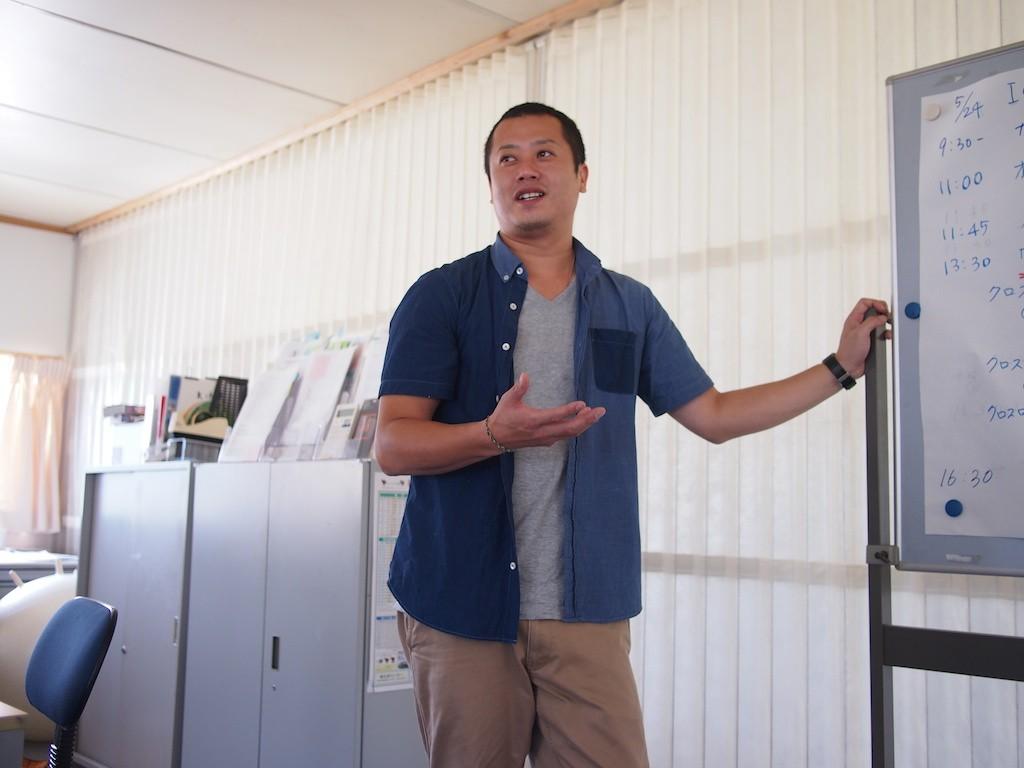 一般社団法人おらが大槌夢広場・代表理事の臼沢和行さん