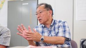 ふるさと豊間復興協議会の遠藤守俊会長。「ゼロからのまちづくり、一緒に挑戦しましょう。」