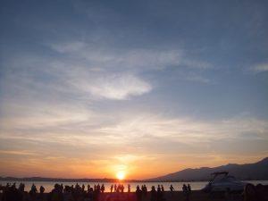 猪苗代湖に沈む綺麗な夕日は、参加した皆の心に、焼き付いている事でしょう。