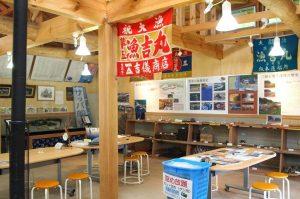 漁師たちが仕事の準備をする小屋「番屋」を模して作った展示室には、田野畑の情報が詰まっています。