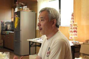南三陸ミシン工房 代表理事の熊谷安利さん。ご両親は岩手県の出身。