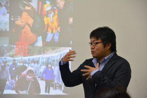 えこえね南相馬研究機構代表の高橋さん。「震災後の新しい地域経済の仕組みを自分たちの手で作っていきたい」と語る。
